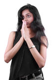 Praying Indian Girl Stock Photo