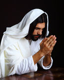 Praying Jesus Christ of Nazareth Stock Image