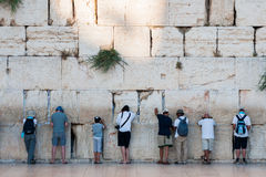 Praying jews in Jerusalem Royalty Free Stock Image