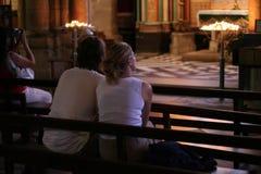 Praying junto Imagens de Stock