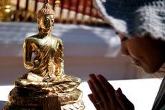 Praying Lady Stock Image