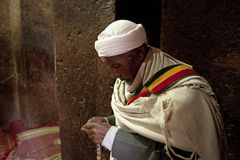 Praying in Lalibela Stock Images