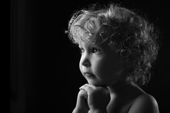Praying little girl Royalty Free Stock Image