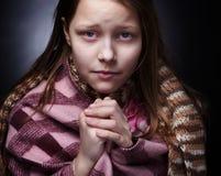 Praying little girl Royalty Free Stock Photos
