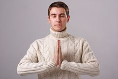 Praying man Royalty Free Stock Photo