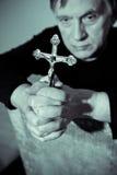 Praying man Stock Photo