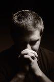 Praying man. Royalty Free Stock Photography
