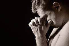 Praying man. Royalty Free Stock Images