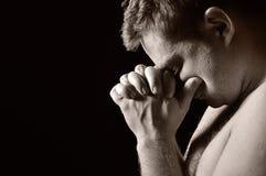 Praying man. Royalty Free Stock Images