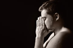 Praying man. Royalty Free Stock Image