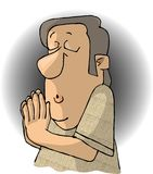 Praying Man. This illustration that I created depicts a man praying Royalty Free Stock Photography