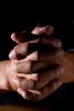 Praying man. A shot of a praying senior man Royalty Free Stock Images