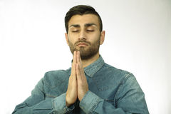 Praying man Royalty Free Stock Photos