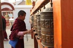 Praying man in Nepal Royalty Free Stock Photo
