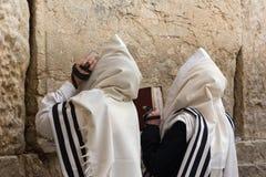 Praying mans -5. Mens praying at the wailing wall Royalty Free Stock Photo