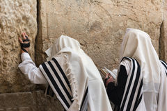 Praying mans -7. Mens praying at the wailing wall Stock Images