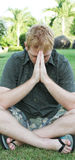 Praying for a miracle Stock Photos