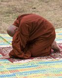 Praying Monk Royalty Free Stock Photography