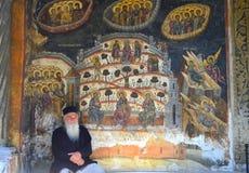 Praying monk Stock Photos