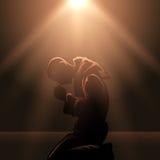 Praying Monk Stock Images