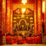 Praying monks Royalty Free Stock Photo