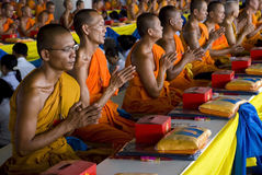Praying Monks Stock Images