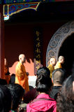 Praying monks. The monks are praying  in Dabei temple Tianjin China Stock Photography