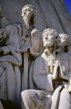 Praying Monument. Details of Monument to the Discoveries in Belem, Lisbon, Portugal Stock Photo