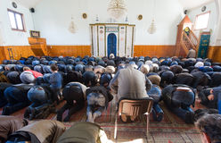 Praying in mosque Royalty Free Stock Photography