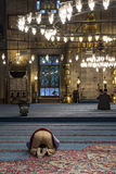 Praying in a mosque Royalty Free Stock Photography