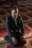 Praying muçulmano foto de stock royalty free