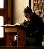Praying Muslim In Bursa Royalty Free Stock Photos