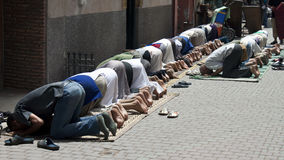 Praying muslims Royalty Free Stock Photo