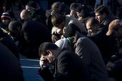 Praying Muslims Stock Photos