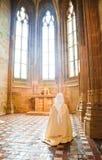 Praying nun Stock Images