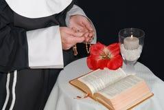 Praying nun Royalty Free Stock Images