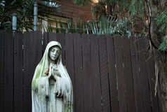 Praying Nun statue in Peace Park of St. Canice`s Parish royalty free stock image