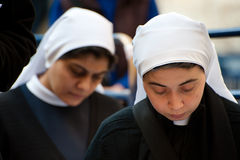 Praying Nuns Stock Photography