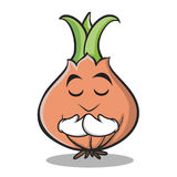Praying onion character cartoon collection Royalty Free Stock Photo