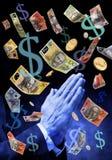 Praying para o dinheiro australiano Foto de Stock