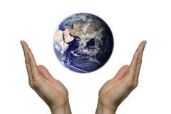 Praying para a terra 2 imagem de stock