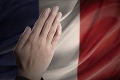 Praying for Paris Stock Image