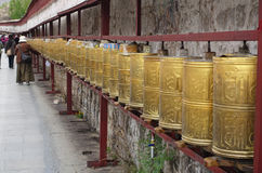 The praying pathway around the Potala Palace. In Lhasa, Tibet royalty free stock photos