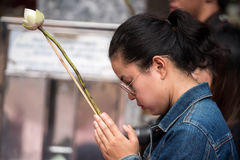 Praying and Paying Respects at Doi Suthep Temple Royalty Free Stock Images