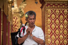 Praying and Paying Respects at Doi Suthep Temple Stock Photography