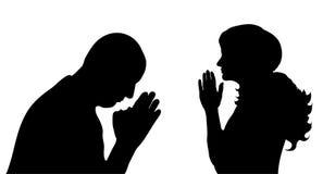 Praying people Royalty Free Stock Image