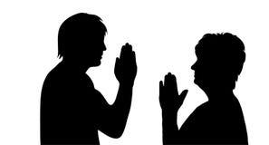 Praying people Stock Photography