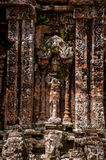 Praying. Prayer statue carved tombs outside but My Son Sanctuary Royalty Free Stock Photo