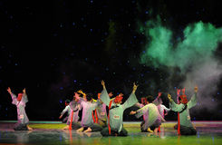 Praying for rain-The Nuo-The exorcism dance. In December 27, 2014, the Department of dance of the students are for the annual graduation performance report in Royalty Free Stock Photography