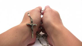 Praying the Rosary Royalty Free Stock Photo